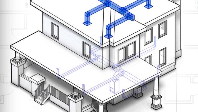 skica instalacija u programu autodesk revit